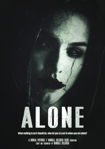 "Film post for supernatural thriller horror short film ""ALONE"""