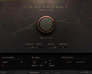 String Ensemble for Composing Film Music