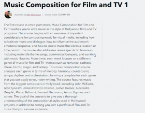 Composing for Film and TV from Berklee College of Music